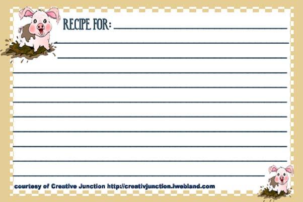 Free Typable Recipe Card Template Car Interior Design